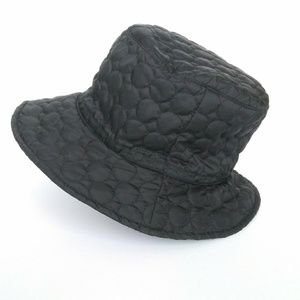 August Black Quilted Bucket Style Hat